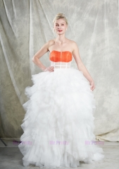 Coral Tulle Wedding Gown Bridal Gown