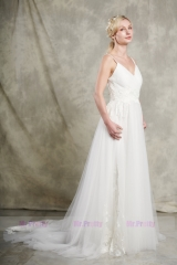 Ivory  Lace Tulle Wedding Gown Party Dress