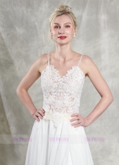 2 Pieces Chiffon Wedding Gown Bridal Gown
