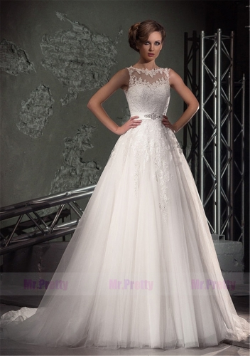 Ivory Lace Wedding Ball Gown