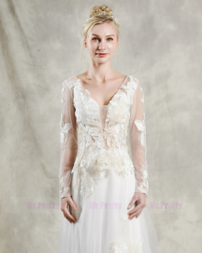 Light Champagne Lace Wedding Top