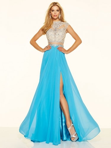 Beaded Chiffon Prom Dress Bridesmaid Dress Sexy Prom Dress