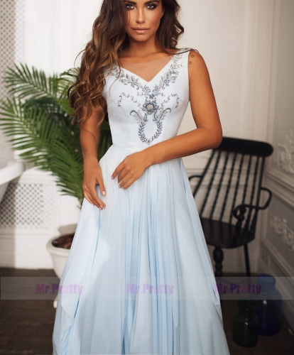 Light Blue Sexy Prom Dress Bridesmaid Dress Sexy Prom Dress