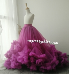 Purple  Little Girl Skirt Girls Party Skirt