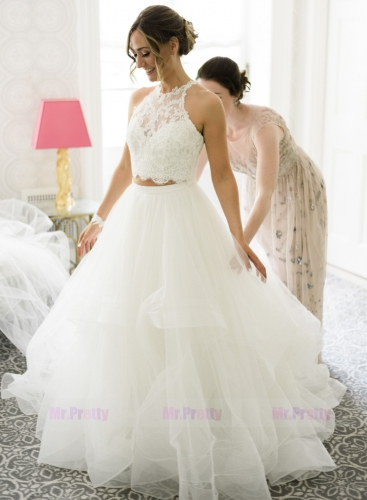 Ivory 2 Pieces Wedding Gown Bridal Gown