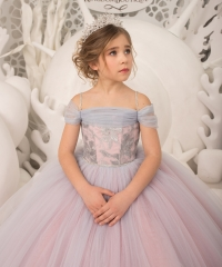 Lavender Tulle Flower Girl Dress Pageant Dress