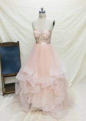 2 Pieces Blush Pink Wedding Dress