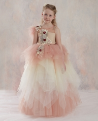 Mauve Tulle Fuffle Girls Pageant Dress Girls Party Dress