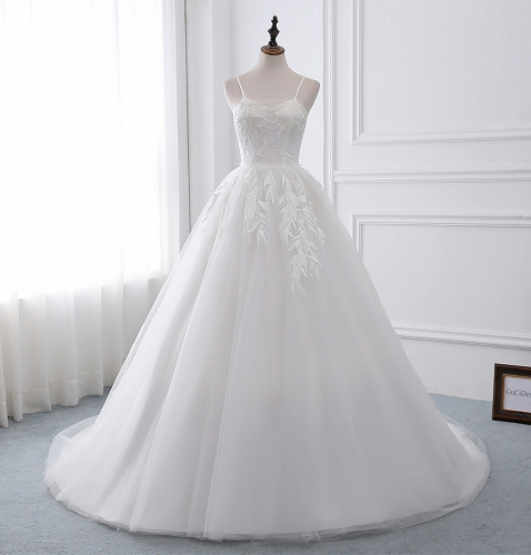 Ivory Lace Tulle Wedding Dress Bridal Gown