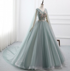Dusty Green Lace Tulle Wedding Dress Bridal Gown
