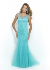 Lace Tulle Mermaid Full Length Prom Dress