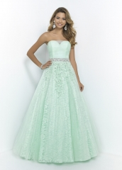 Sweetheart Lace Tulle Full Length Prom Dress