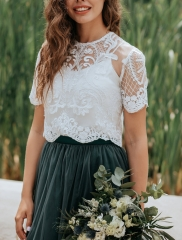 Ivory Lace Lace Wedding Top