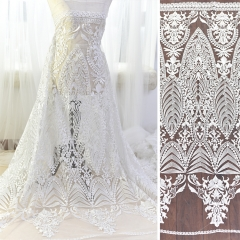 Ivory Embroidery Lace Wedding Lace Fabric