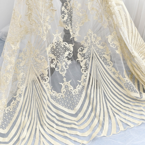 Champagne Lace Embroidery Lace Wedding Lace Fabric