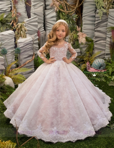 Eyelash Lace  Mauve  TulleLittle Girls Pageant Dress Flower Girl Dress