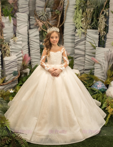 Luxury Little Girls Pageant Dress Flower Girl Dress