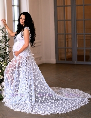 Ivory Lace  Maternity Dress Sexy Prom Dress Pregnant Dress