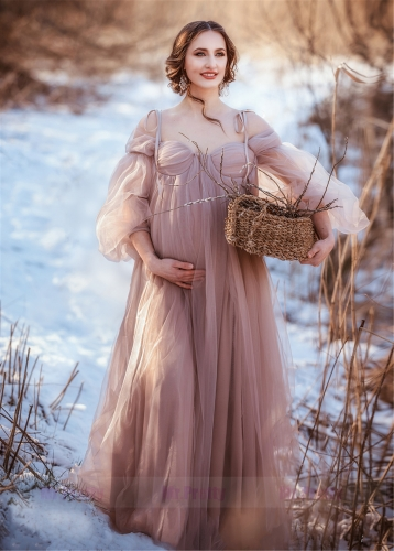 Light Mauve Maternity Dress Photoshots Dress Popular Maternity Robe