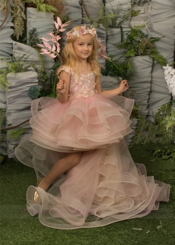 Pink Luxury Girls Pageant Dress
