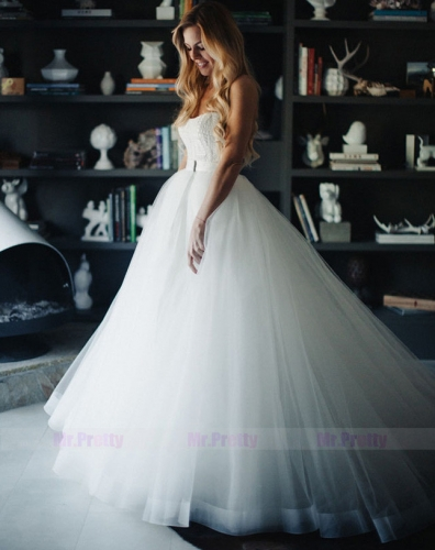 Custom Ivory Tulle Full Legnth Skirt Bridal Skirt  For Nyoweh