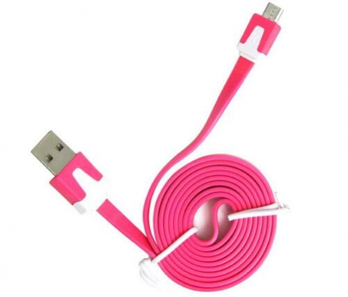 1m 2m 3m colorful flat usb cable for v8 mobile phone charger