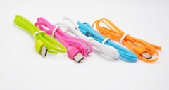 2017 hot selling wholesale price 1M Jelly USB Data Cable flat usb cable for iPhone7