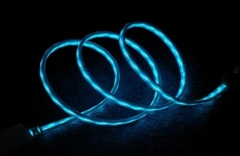 Led USB cable flash light charging cable data cable for Android