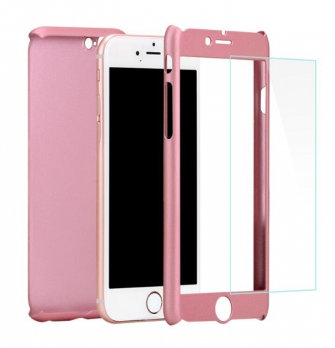360 degree mobile 7 full protective hard PC cell phone case with tempered glass PC cover