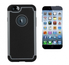 Factory direct supply strong Protective Footable Pattern TPU PC Case for iphone