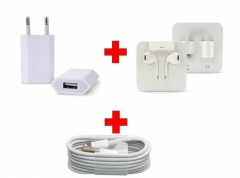 OEM Accessories for Apple iPhone in box, USB Cable /  Wall charger / Headphone, original quality