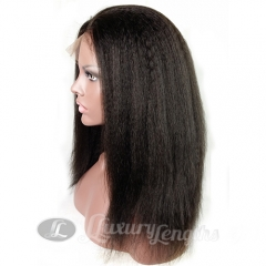 Full Lace-Kinky-Human hair-Virgin-European Hair