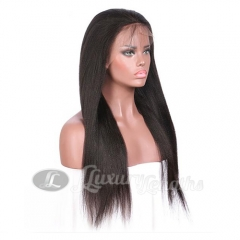 Lace Front-Yaki-Human hair-Virgin-European Hair