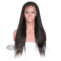 Lace Front-Yaki-Human hair-Virgin-Brazilian Hair
