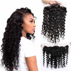 Lace Frontal-Water Wave-Peruvian Hair