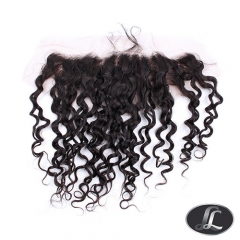 """Lace Frontal""Spiral Curl texture, African European women hair style, virgin hair, grade10, color 1B, Lace 13 by 4 Inch"