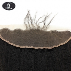"""Lace Frontal"" Yaki, African European women hair style, virgin hair, grade10, color black natural lace base 13*4 Inch"