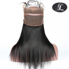 360 Lace Frontal-Straight-Peruvian Hair