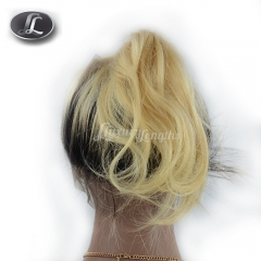 360 Lace Frontal, blonde ombre color, hair texture wave, virgin hair Peruvian hair, pre-plucked frontal, elastic bands