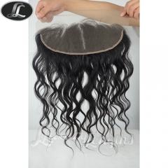 Full lace frontal, Peruvian hair grade 10, virgin human hair, medium size 13*4 inch lace base color black natural #1B Spring Curl hair