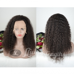 Full Lace-Curly-Human hair-Virgin-peruvian Hair