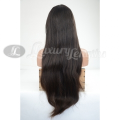 Lace Front-Straight-Human hair-Virgin-Peruvian Hair