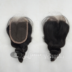 Closure - Loose Curl Peruvian Hair