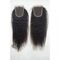 Closure-Kinky Peruvian Hair