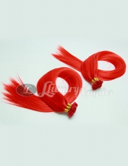 Flat tape extension light orange color, human hair from bxhair factory