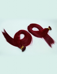 Flat tape extension Red wine 30 color, human hair from bxhair factory