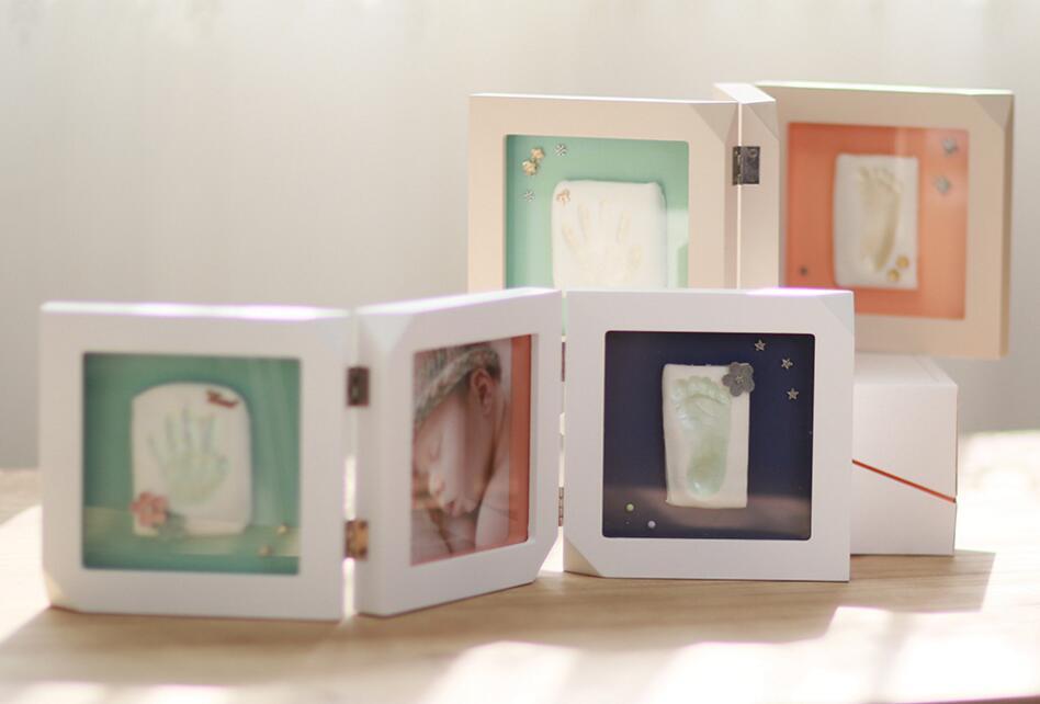 2018 nuevo diseño 3 apertura bebé recuerdo de arcilla huella y ...