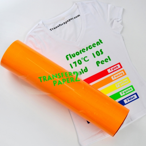 Fluorescent Orange Heat Transfer Vinyl