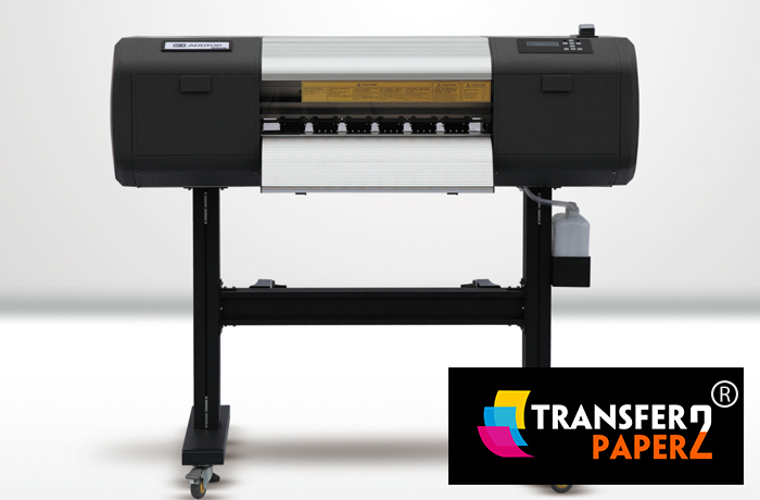 This is a photo of Printable Vinyl Laser Printer inside eco solvent