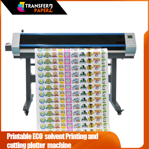 Printable ECO solvent printing and cutting plotter Machine PC500/750/900/1600